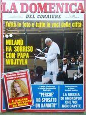 La Domenica del Corriere 4 Giugno 1983 Papa Wojtyla Vallanzasca Festival Cannes