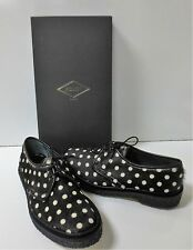 ADIEU PARIS Black & White Type 1 Spotted Haircalf Shoes FR 37  NEW IN BOX $595