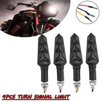 12V Motorrad LED Mini Blinker Blinkleuchten Roller Quad Schwarz