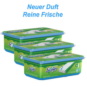 """3 x 24er Swiffer Wet Feuchte Bodentücher mit """"Reine Frische"""" Duft von Febreze"""