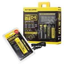 NITECORE Digicharger D4 - IMR/Li-ion/Ni-MH/Ni-Cd/LifePO4 w/ NL189 18650 battery