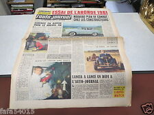 L AUTO JOURNAL N° 261 15 decembre 1960 Essai Aronde 1961 *