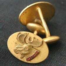 Vintage Loyal Order Of The MOOSE Enamel Cufflinks