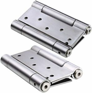 4pc Stainless Steel Self Closing Double Action Spring Door Hinge for Cafe Saloon