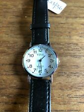 Ladies/Gents VIVE SS Watch with Black Straps  W823/36