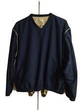 Grand Slam Performance Men's L- Pullover Windbreaker Golf Navy V-Neck Pockets