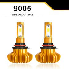 2x 9005 LED Headlight Kit 1600W 240000LM High Beam Bulb HB3 6000K White Fog Gold