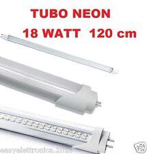 TUBO NEON LED 18 WATT DA 120 CM ATTACCO T8 LUCE FREDDA SENZA PIU STARTER + FACIL