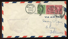 (1930) Pair of 634a on Air Mail cover Medford Oregon