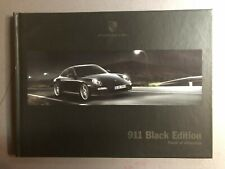 2011 Porsche 911 Black Edition Showroom Sales Brochure RARE!! Awesome L@@K