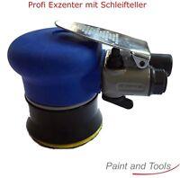 Exzenter Set Mini Schleifmaschine 75mm Indasa Schleifscheiben P80 P120 Druckluft