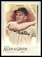 2020 Topps Allen and Ginter Base SP #337 Ralph Kiner - Pittsburgh Pirates