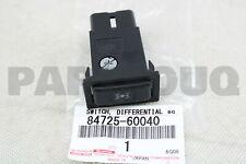 8472560040 Genuine Toyota SWITCH, CENTER DIFFERENTIAL LOCK 84725-60040