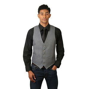 Mens Heather Grey Dress Vest