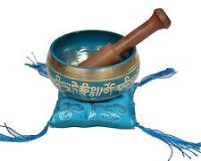 Tibetan Meditation Yoga Singing Bowl Set - Turquoise