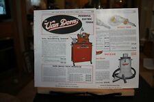 Van Dorn Electric Tool Co Towson Md Equipment Auto Brochure Ad 1940's Vintage