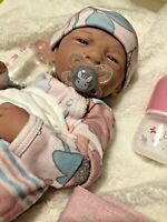 AWW! It's Baby GIRL! Berenger Life Like Reborn Preemie Pacifier Doll +Extras
