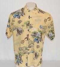 Harley Davidson Men's Short Sleeve Hawaiian Shirt Size Small Aloha Motorcycle