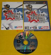 ALL STAR BASEBALL 2003 Ps2 Versione Ufficiale Italiana 1ª Edizione •••• COMPLETO