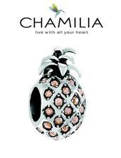 Genuine CHAMILIA 925 sterling silver Swarovski PINEAPPLE PARADISE charm bead