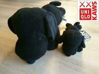 KAWS UNIQLO Plush S or M size or Set of 2 & Special Bag PEANUTS Black SNOOPY