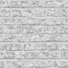 BRIQUE RUSTIQUE PAPIER PEINT ROLLS - GRIS - ARTHOUSE 889606 MUR NEUF