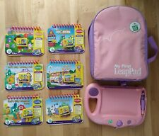 Large JobLot Leapfrog My First LeapPad pad backpack case 6 Books Cartridges Dora