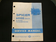 SPICER 6000 series 5 speed transmission service manual