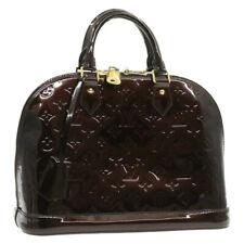 LOUIS VUITTON Monogram Vernis Alma PM Hand Bag M91691 Amarante LV Auth 17627