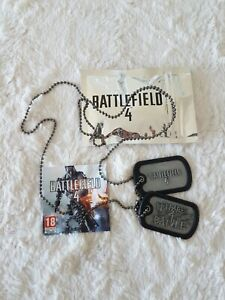 Collier Plaques Militaires Battlefield 4 Officiel Dog Tags Necklace Neuf PS4