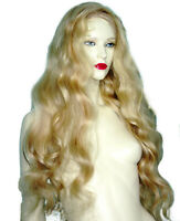 Blonde Mix Remi Remy Glueless Full Lace Wig Wigs Indian Human Long Hair