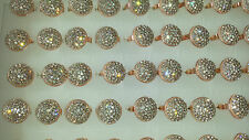 Job lot of 50 pcs Round shape Diamante Fashion Rings - NEW Wholesale lot I1