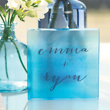 Aqueous Color Wash Modern Personalized Modern Acrylic Wedding Cake Topper
