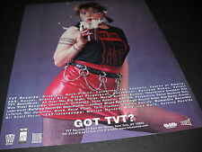 TVT 1997 Promo Poster Ad SEXY GIRL BLOWS BEER HEAD Birdbrain Sevendust KMFDM