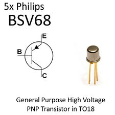 5pcs BSV68 High Voltage General Purpose PNP Transistor NOS TO18