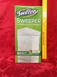 NEW Factory Sealed Swiffer Sweeper Dry Sweeping Cloths Refills 80 Count BIG Box