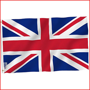 Anley [Fly Breeze 3x5 Foot 90 X 150cm United Kingdom UK Flag - Vivid Color and -