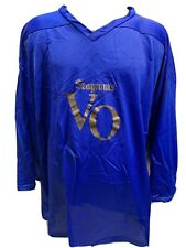 SEAGRAM'S VO Vintage Blue Hockey Jersey Size XL