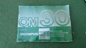 OLYMPUS OM 30 35 mm CAMERA INSTRUCTION BOOK
