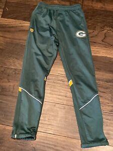 euc GREEN BAY PACKERS nfl Team Apparel ATHLETIC Jogger PANTS boy M 10 12 pockets