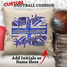 Personalizado West Bromwich Albion Fútbol Vintage Cojín a medida Protector Lona
