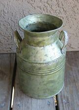 Galvanized Green Bucket/Utensil Holder*Primitive/French Country Farmhouse Decor