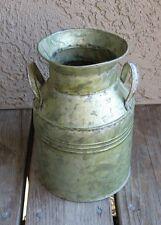Galvanized Green Bucket/Utensil Holder*Primitive/French Country Farmhouse Decor