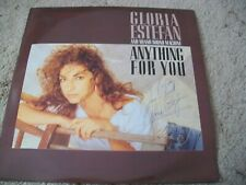 GLORIA ESTEFAN * ANYTHING FOR YOU  * SIGNED / AUTOGRAPHED LP
