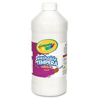Crayola Artista II Washable Tempera Paint White 32 oz 543132053