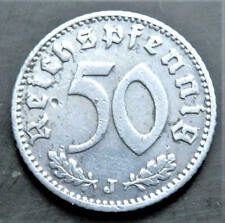1935 ORIGINAL GERMAN 50 REICHSPFENNIG *J* , GOOD GRADE