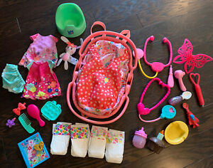 Baby Alive Doll Clothes Accessories Lot Potty Clothes Bottles 5 In 1 Carrier