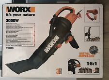 WORX WG505E 3000W Trivac Garden Blower Mulcher & Vacuum, Black. OPEN TO OFFERS!