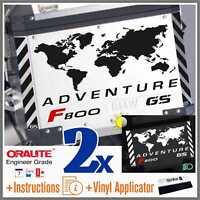 11pcs Kit for F 800 GS Reflective Black BMW ADVENTURE Touratech ADESIVI f800gs