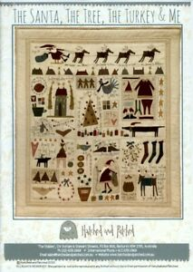 The Santa, The Tree, The Turkey & Me - Pattern by Anni Downs - Embroidered Quilt